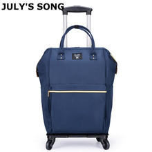 Luggage-Bag Wheel-Carry-On-Bag Rolling-Suitcase Travel Women JULY'S SONG with Duffle