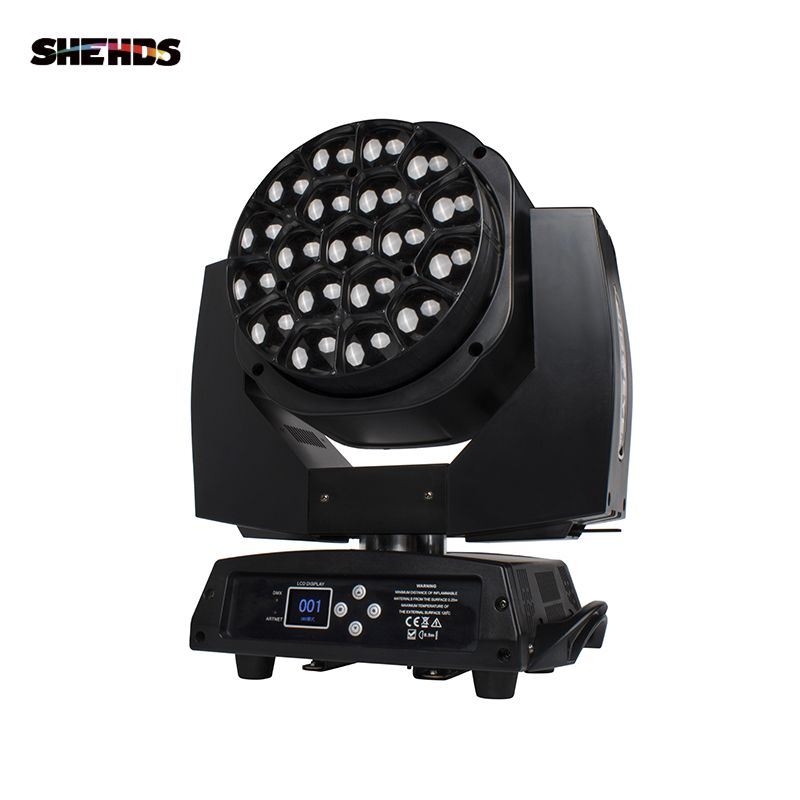 SHEHDS Intelligent Adjustment Big Bees Eyes 19X15W RGBW Zoom Light Best For Christmas Home KTV Xmas Wedding Disco Ball Party