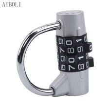 Heavy Duty 4 Dial Digit Combination Lock Weatherproof Security Padlock Outdoor Gym Safety Code Lock Black