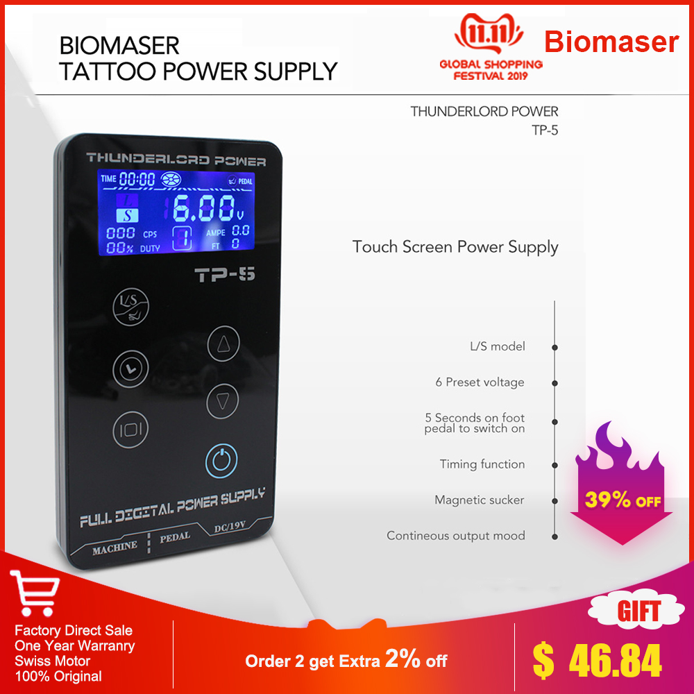 Tattoo Power Supply HP 2 UPGRADE Touch Screen TP 5 Intelligent Digital LCD Makeup Tattoo Machine Supplies set-in Tattoo Power Supply from Beauty & Health