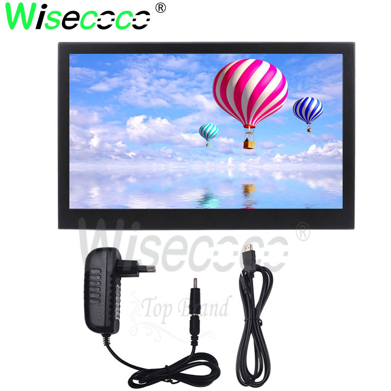 wisecoco 13.3 inch ips 2k monitor with outer casing computer display for raspberry pi earphone double hdmi interface