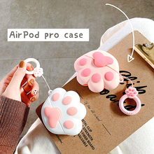 Cute Wireless Bluetooth Earphone Case for Apple AirPods 2 Silicone Charging Headphones Case for Airpods Pro Protective Cover 3d lucky rat cartoon bluetooth earphone case for airpods pro cute accessories protective cover for apple air pods 3 silicone