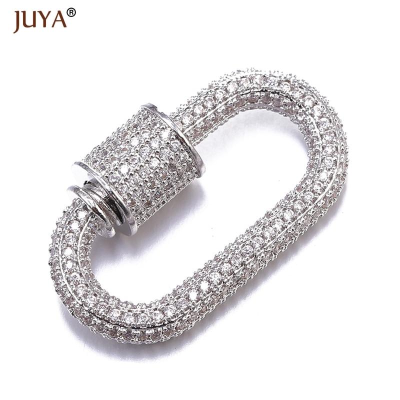 Аксессуары для ювелирных изделий ручной работы, трендовые циркониевые кристаллы, спиральные застежки для изготовления ювелирных изделий, подвески, новейший дизайн - Цвет: Silver