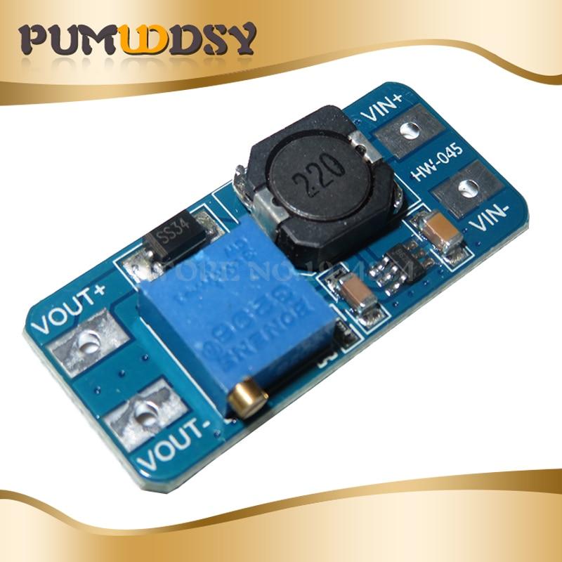 5PCS MT3608 DC-DC Step Up Converter Booster Netzteil Modul Boost-Step-up Board MAX ausgang MT3608 28V 2A