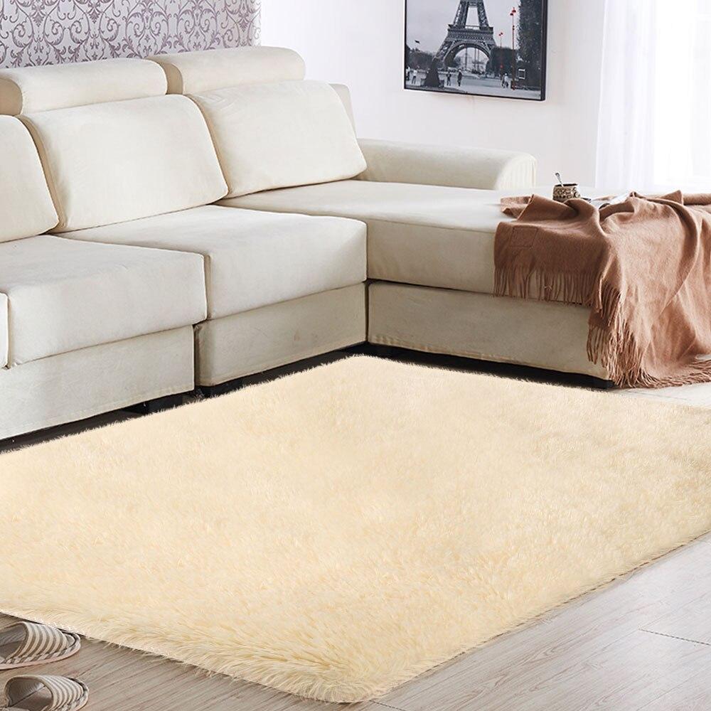 Tapis moelleux sol 160x200cm chambre maison canapé tapis moelleux tapis lumineux multicolore salle à manger décoration zone tapis