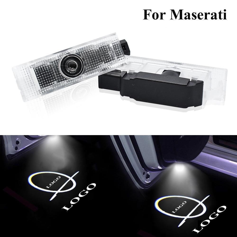 Светодиодный Добро пожаловать светильник двери автомобиля HD проекторы логотипов 6000K тень лампы для Maserati Quattroporte Levante Ghibli GranTurismo GranCabrio
