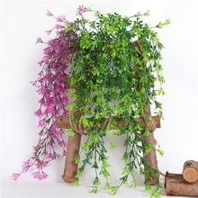 Artificial Plant Vine Fake Flower Rattan Sun Flower Morning Glory Hanging Rattan DIY Wedding Plant Wall Home Garden Decor Ivy