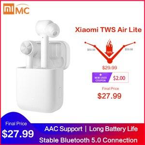 Original Xiaomi Mi True Wireless Earphones Lite TWS Bluetooth In-Ear Headset Air Lite Stereo AAC Tap Control Dual MIC ENC BT 5.0(China)