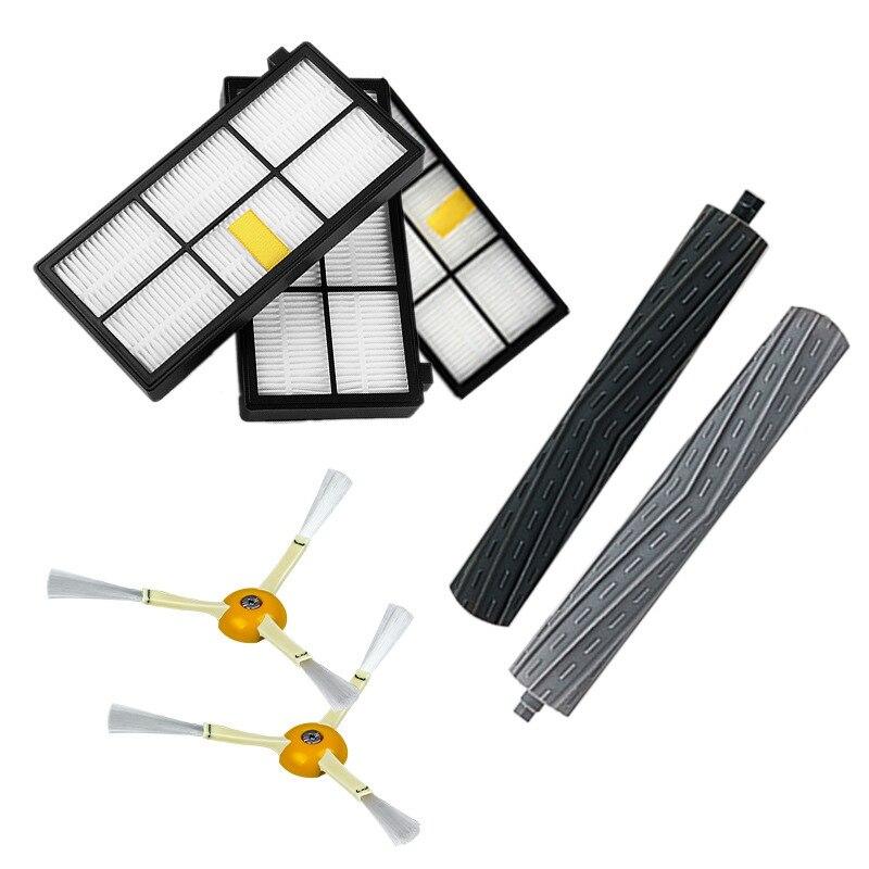 Купить с кэшбэком For IRobot Roomba 800 860 870 880 960 Vacuum Parts filter kit Series Brushes and Filters 14PCS