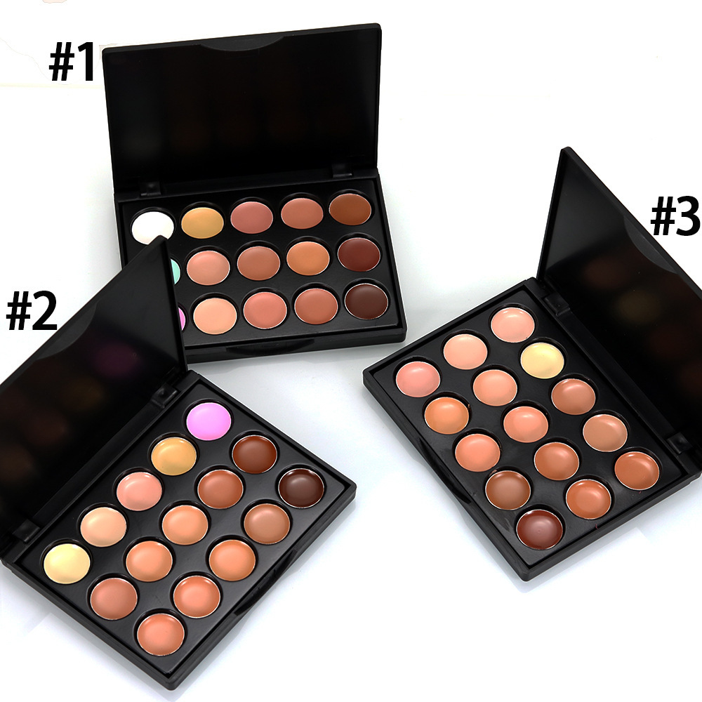 styleBBL23 choose Professional Palette 15 Color Concealer Facial Face Cream Care Camouflage Makeup base Palettes Cosmetic N30