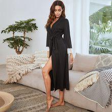 Sleepwear feminino cor sólida algodão roupão sexy rendas plus size pijamas noite vestido casual casa vestir robe senhoras vestidos