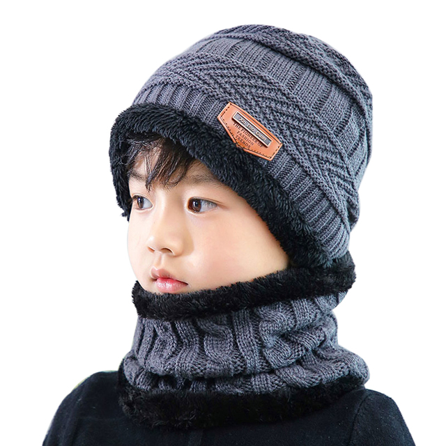 Boys Knitted Hat with Scarf 6