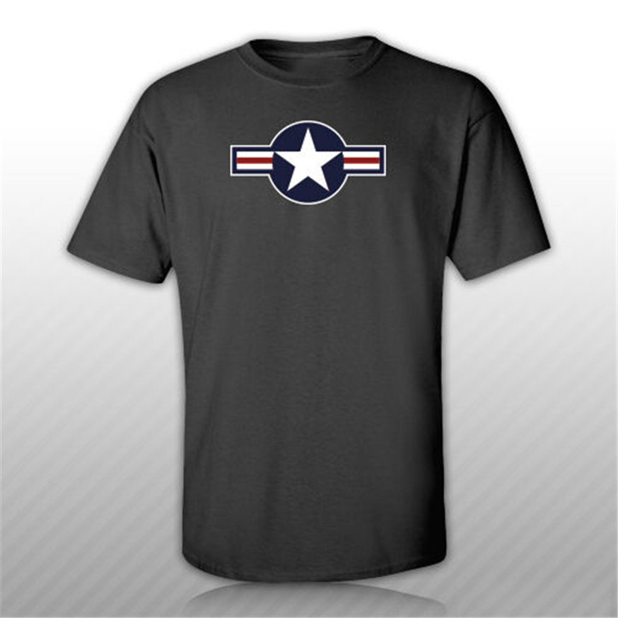 United States Air Force <font><b>Usaf</b></font> Roundel T-<font><b>Shirt</b></font> Tee <font><b>Shirt</b></font> Free Sticker Military Custom Special Print Tee <font><b>Shirt</b></font> image