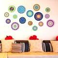 [SHIJUEHEZI] Bunte Gerichte Wand Aufkleber Vinyl DIY Hohl Aufkleber für Wohnzimmer Restaurant Küche Home Dekoration|Wandaufkleber|Heim und Garten -