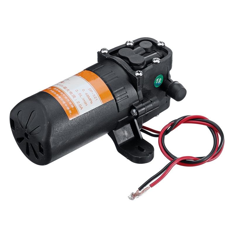 NEW DC 12V 70PSI 3.5L/min Agricultural Electric Water Pump Black Micro High Pressure Diaphragm Water Sprayer Pump Car Wash-0