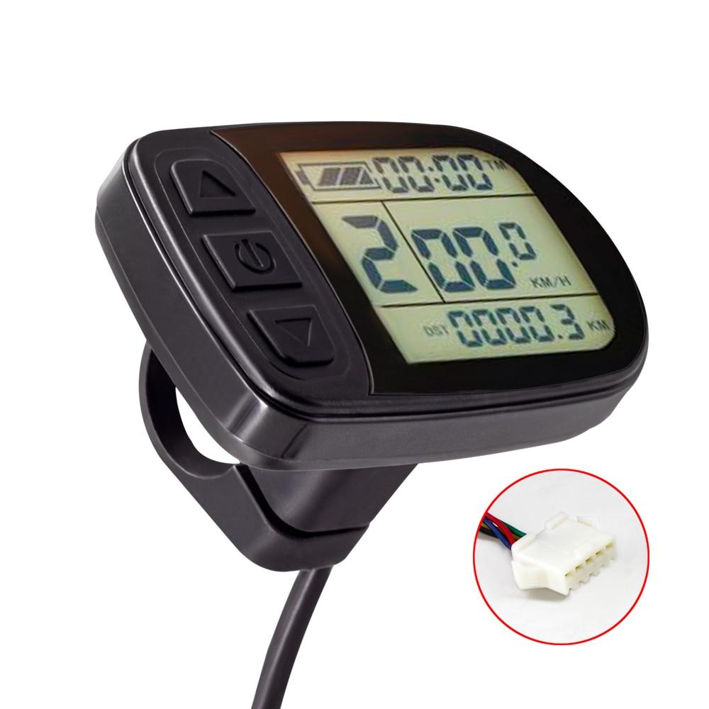 Ebike Display 24V 36V 48V KT LCD5 Display Electric Bike Kunteng KT Intelligent Control Panel Display For Electric Bicycle