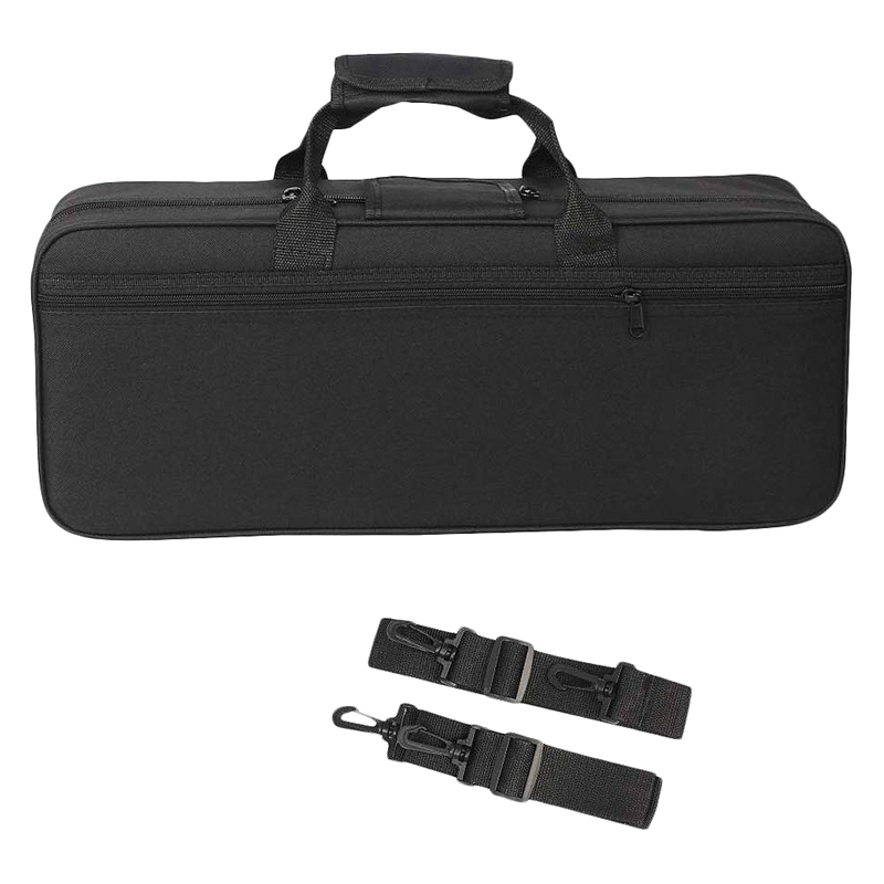 ABUO-Trumpet Gig Bag Box Backpack Water-Resistant Oxford Cloth Carrying Case With Adjustable Dual Shoulder Strap Pocket Foam Cot
