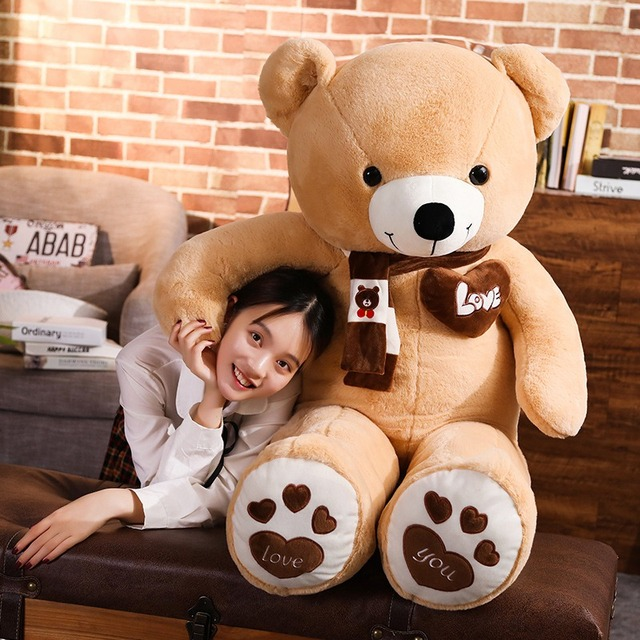 New Hot High Quality 4 Colors Teddy Bear With Scarf Stuffed Animals Bear Plush Toys Doll Pillow Kids Lovers Birthday Baby Gift Uncategorized Decoration Kid's Toys Stuffed & Plush Toys Toys