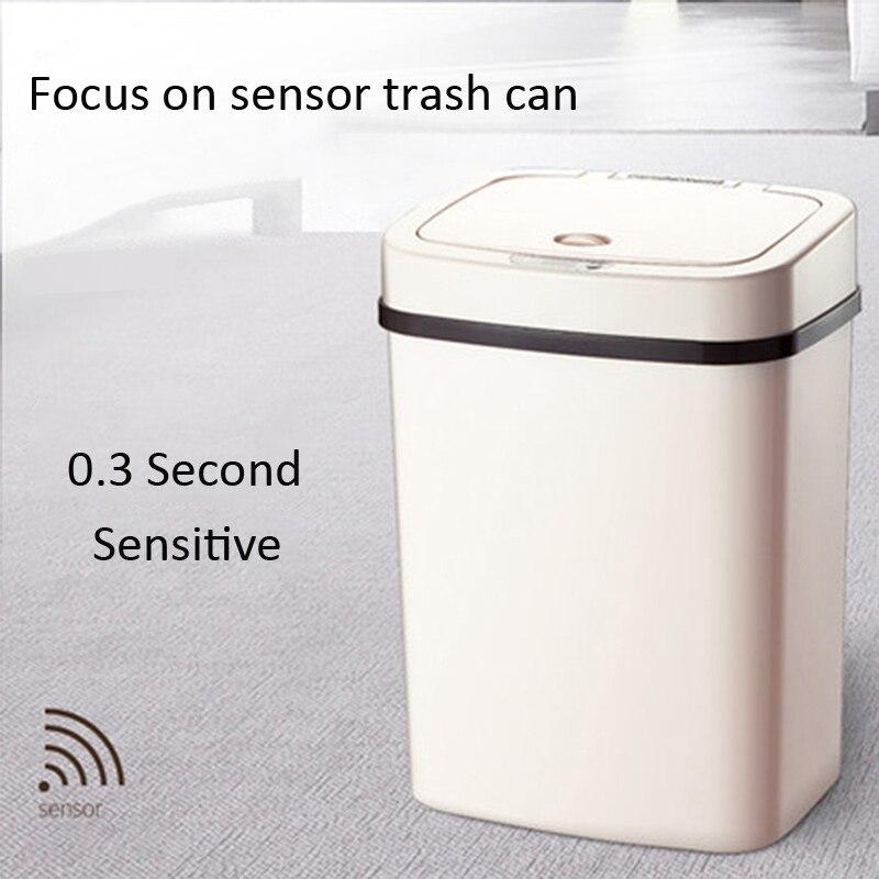 Индукционный автоматический датчик прямоугольный держатель для мусорного мешка 12L для мусора мусорник в автомобиль самосвал компост 2 * aa с...