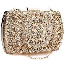 Женский клатч с бриллиантами, вечерние и свадебные сумки, модные кошельки и сумочки, вечерние сумки через плечо, золотистый, серебристый, черный