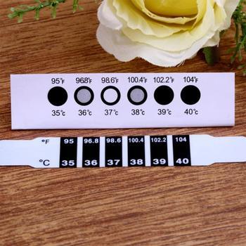 1Pc LCD czoło głowy taśma do termometru naklejki zmiana koloru wody gorączka ciała dziecko dziecko dzieci Test temperatury taśmy naklejki tanie i dobre opinie centechia CN (pochodzenie) Temperature Stickers Termometry domowe Z tworzywa sztucznego 9 5x2x1 1x temperature sticker