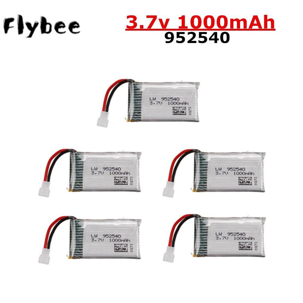 3.7V 1000mAh Li-PO Bateria 952540 Para Syma X5 X5C 25C X5C-1 X5S X5SW X5SC V931 H5C CX-30 CX-30W Quadcopter Peças De Reposição