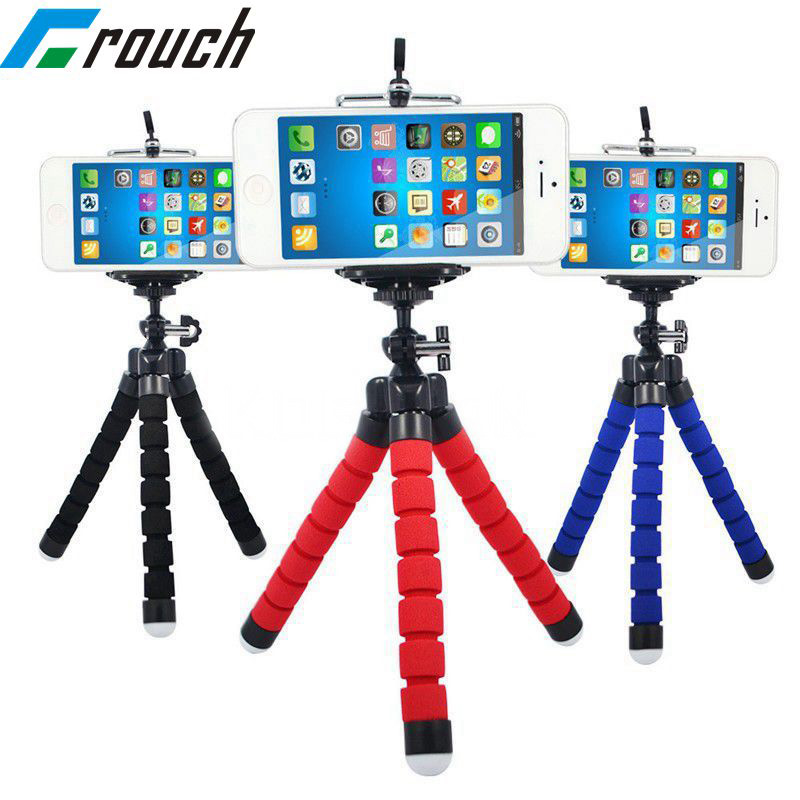 Crouch Phone Holder Tripods Tripod For Phone Mobile Camera Holder Flexible Octopus Bracket For IPhone Xiaomi Samsung Clip Holder