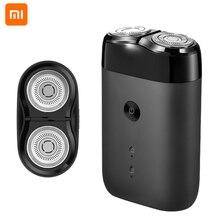 شاومي Mijia الرجال ماكينة حلاقة كهربائية الحلاقة المحمولة 2 شفرات الإلكترونية اللحية المتقلب USB قابلة للشحن الذكية اللحية آلة الحلاقة