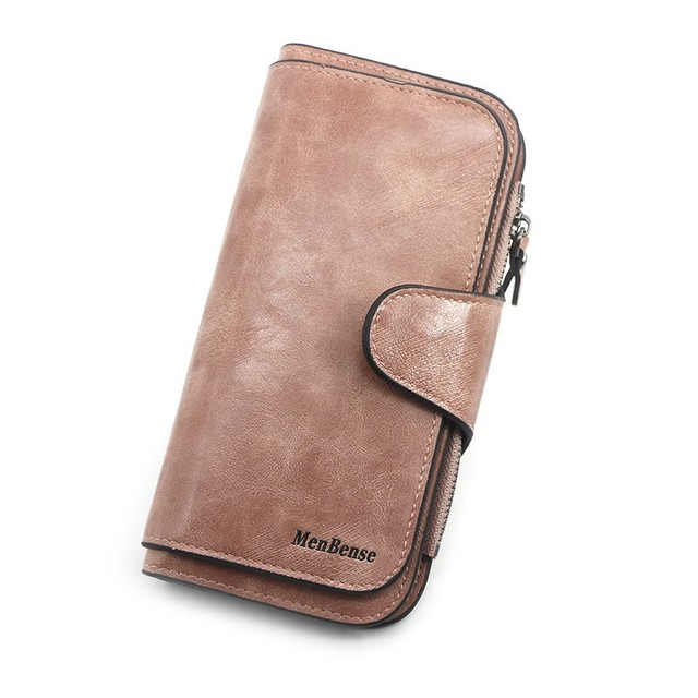 Women's wallet made of leather Wallets Three fold VINTAGE Womens purses mobile phone Purse Female Coin Purse Carteira Feminina 5