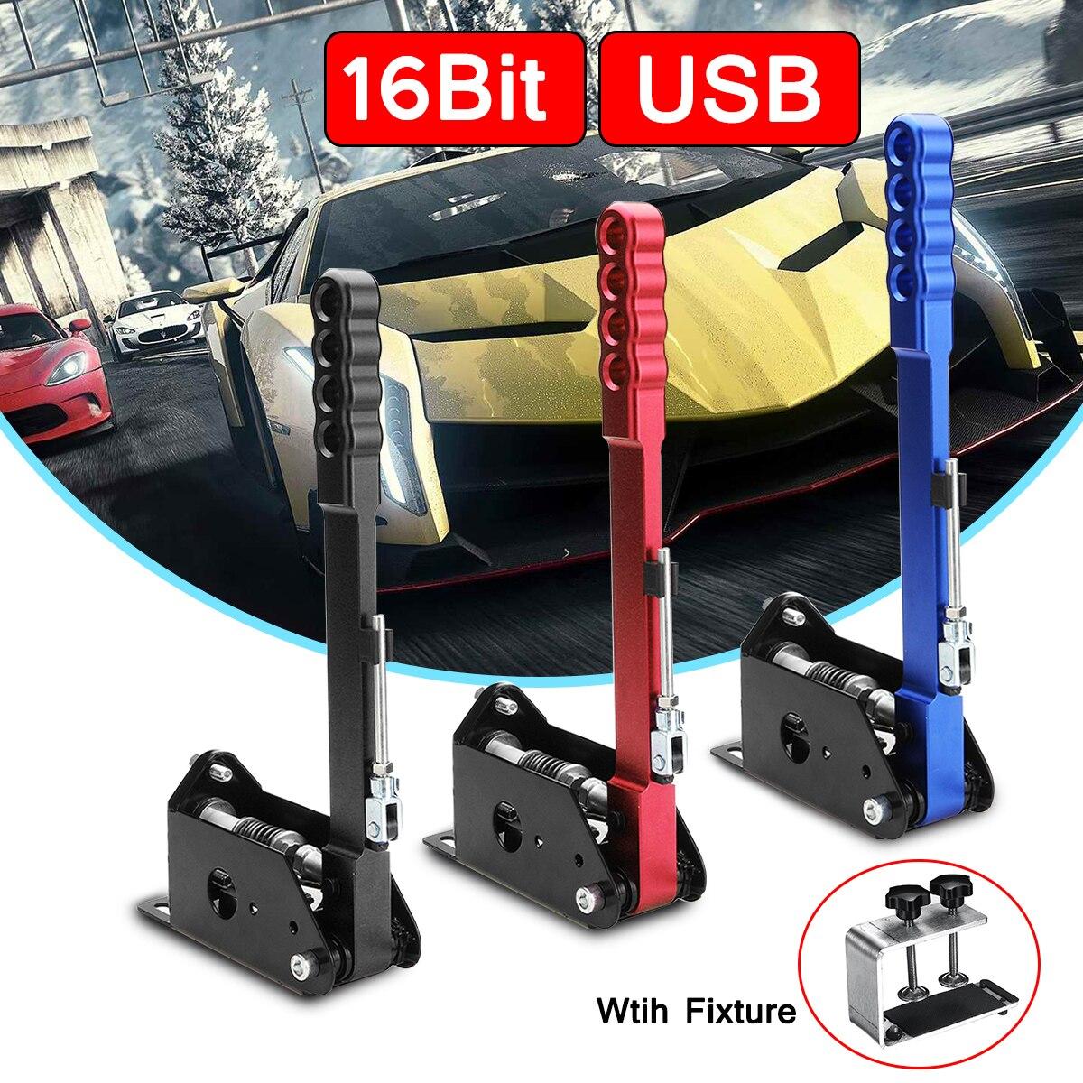 Adjustable Height Clamp 16bit Hall Sensor USB Handbrake Clamp PC Windows For Sim Racing Game For G25 G27 G29 T500 T300
