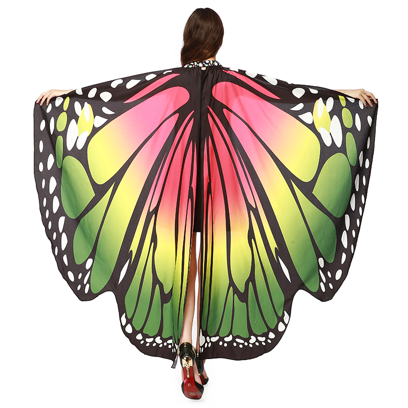 7 Colors Butterfly Wings For Oriental Dances Vlinder Vleugels Alas Isis Wings Muti-color Polyester