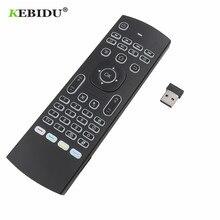 Смарт пульт дистанционного управления MX3 с голосовым управлением, аэромышь с подсветкой, беспроводная клавиатура MX3 2,4G RF, ИК обучение для ТВ приставки Android 9,0 X96 H96 MAX