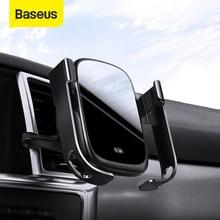 Baseus 15W bezprzewodowa ładowarka Qi zamontuj W samochodzie odpowietrznik bezprzewodowy uchwyt do ładowania telefonu czujnik na podczerwień bezprzewodowa ładowarka samochodowa