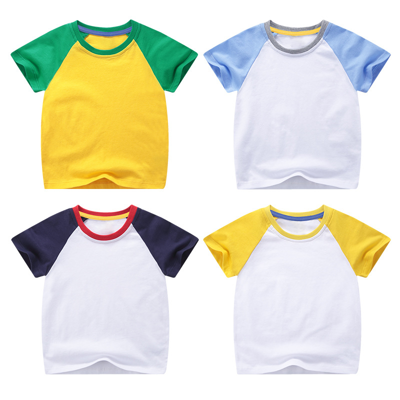 VIDMID boys girls short sleeve t-shirts tees kids cotton clothes tops t-shirts boys candy color tees tops children tees 7042 03 2