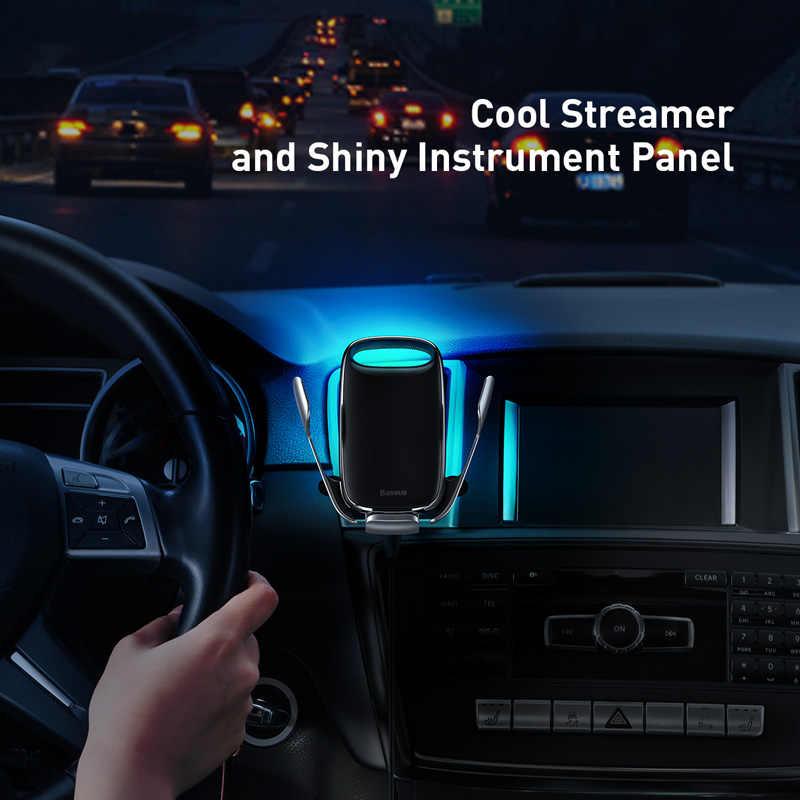 Baseus Auto Telefon Halter Für iPhone 11 Pro Max 15W Qi Drahtlose Ladegerät Für Xiaomi Redmi Hinweis 8 Pro schnelle Drahtlose Lade Halter