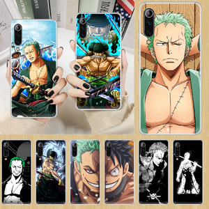 Zoro ONE PIECE anime Phone Case cover For XIAOMI redmi note K 4 5 6 7 8 9 10 20 30 3 A X Pro ultra transparent coque luxury