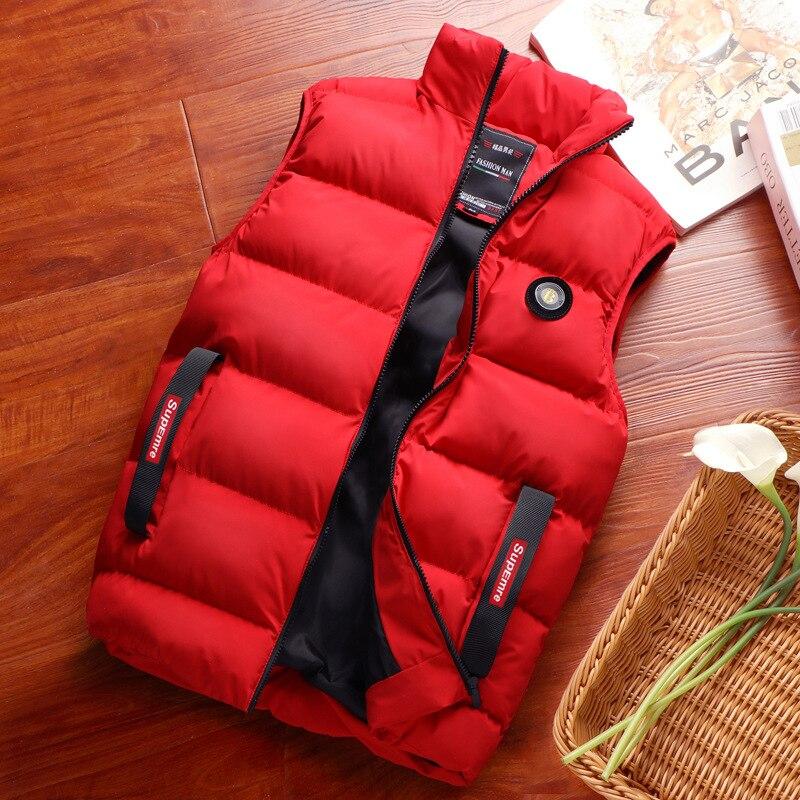 Down Feather Cotton Vest Autumn & Winter Candy-Colored Multi-color Sports Casual Vest Sleeveless Coat Fat Plus-sized Vest