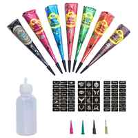 Henna Tattoo Cream Hand-Painted Cream Concealed Colored Drawing Nepalese Type Tattoo Set For Girls