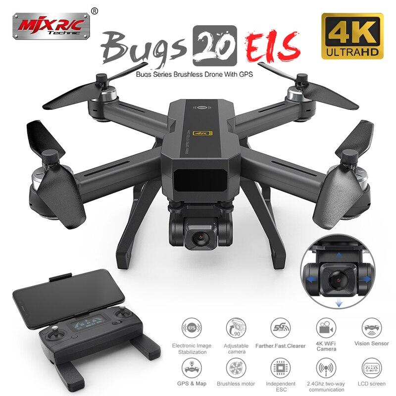 Mjx b20 gps zangão com 4k 5g wifi hd câmera de estabilização imagem eletrônica quadcopter brushless profissional dron vs sg906 pro