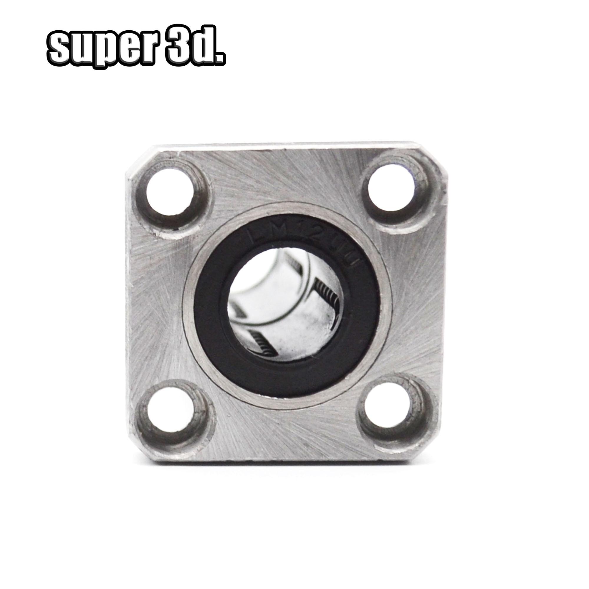 1Pcs LMK8LUU 8mm Long Square Flange Type Linear Motion Ball Bearing Bushing !