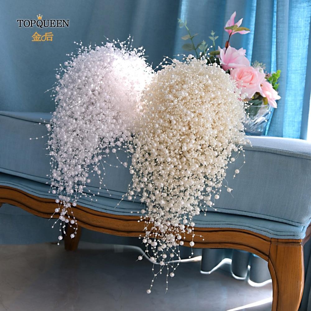 TOPQUEEN F24 свадебный букет, цветы для невесты, чистый жемчуг, цветы для подружки невесты, модные свадебные букеты