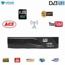 цена на DVB-T2 HD 1080P Digital Terrestrial Receiver H.265 / HEVC DVB-T TV Tuner Support Dolby AC3 Youtube MPEG4 Standard Set Top Box