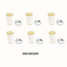 Yubao 6 adet mercedes benz için motor yağ filtresi 0001802609 C CL CLK CLS E r E r E r E r E r E r E r E r E r E r SLK G ML A0001802609 091 33007 058 Hu718/5x