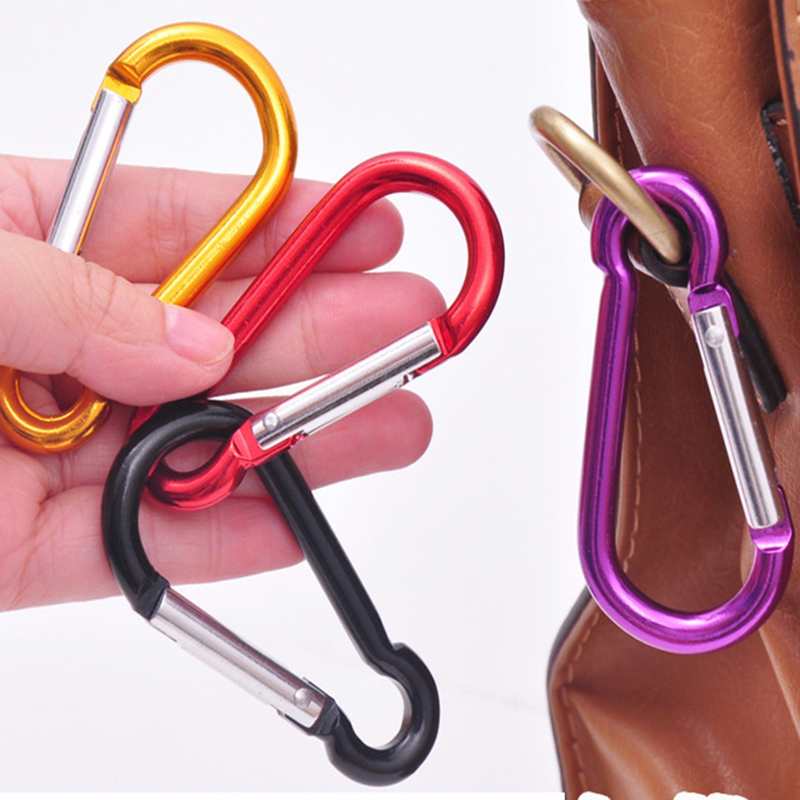 1PCS Aluminum Alloy Mountaineering Buckle Outdoor Camping Key Spring Hook Buckle Travel Kettle Suite Mountaineering Accessories