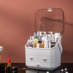 Makeup Organizer Multifunctional Plastic Transparent Portable Layered Drawer High Capacity Cosmetic Jewelry Lipstick Storage Box