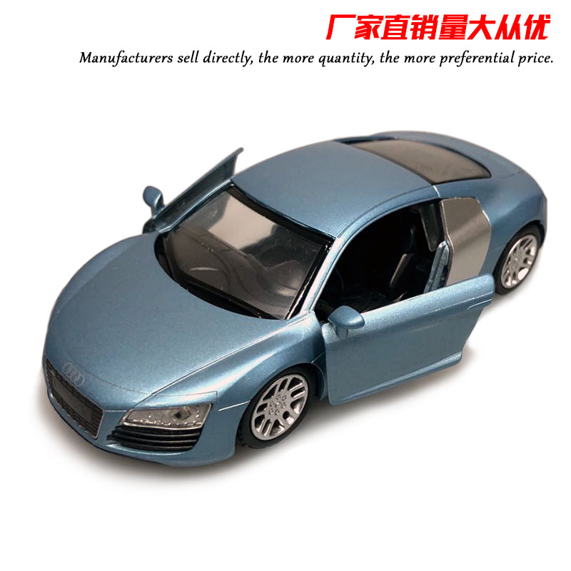 NEWRAY 1/32 Scale Germany AUDI R8 Diecast Metal 14CM Length Car Model Toy For Collection,Gift,Kids,Decoration image