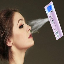 3In1 Handy Facial Steamer Nano Mist Face Spray BottleSkin Moisture Meter Power Bank Portable USB Rechargeable Mist Sprayer(China)