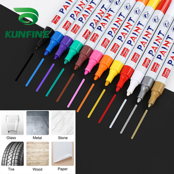 Car Tyre Tires Tread Metal Permanent Paint Markers Graffiti Oily Marker Pen Car Styling Colorful Waterproof Paint Pen