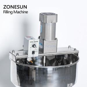 Image 2 - ZONESUN ערבוב מאוד צמיג מזון להדביק קרם אריזה ציוד בקבוק מילוי LiquidsAlcohol ג ל חומר מילוי מכונה