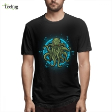 Hot Sale Male In Cthulhu We Trust T Shirt Novelty 3D Print Pure Cotton For Boy Tees цена 2017